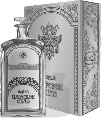 Vodka üveg design Tsarskoye Selo