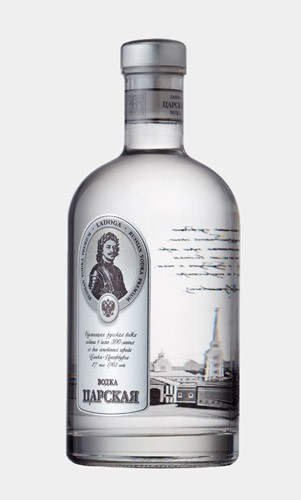Imperial conception de bouteille de vodka 0,5 l