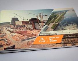 Разработка дизайна буклета энергостроительной корпорации, товхимол, график