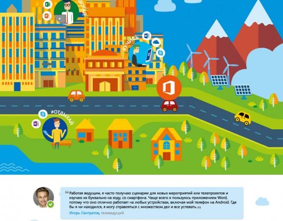 Рекламная кампания Microsoft Office 2016, cartel, листовка, майкрасофт, офис