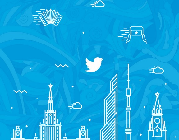 Twitter reclamecampagne in het Russisch, corporate identity