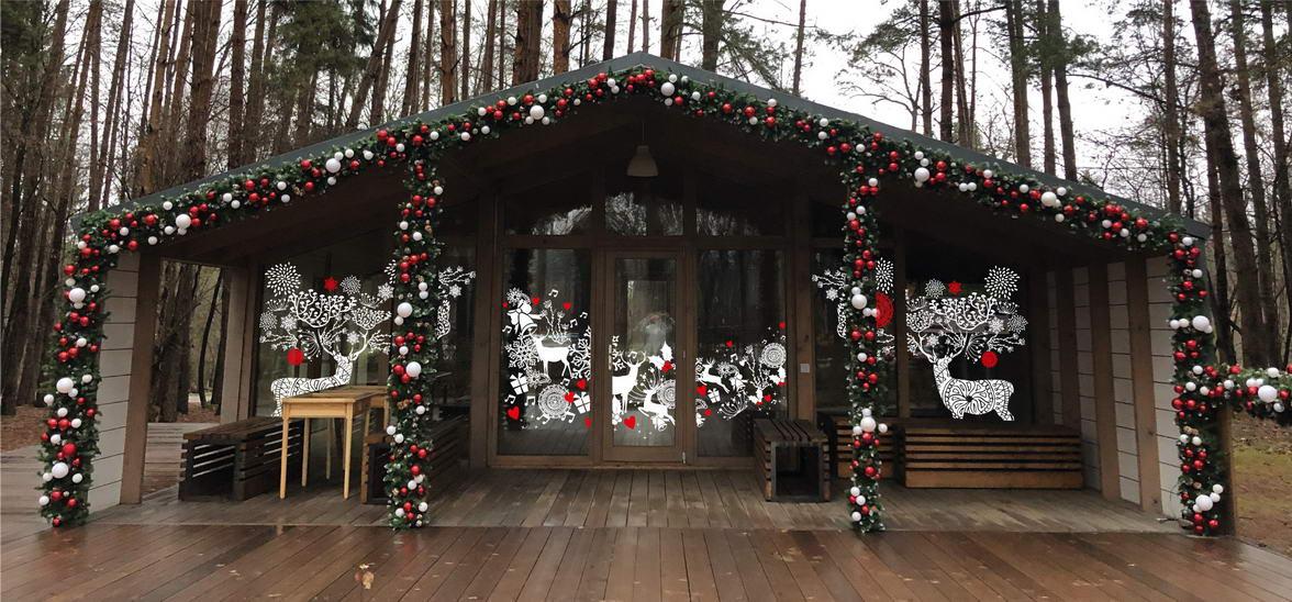 Kalėdinė dekoracija ir dizainas Odintsovo parkas 2019